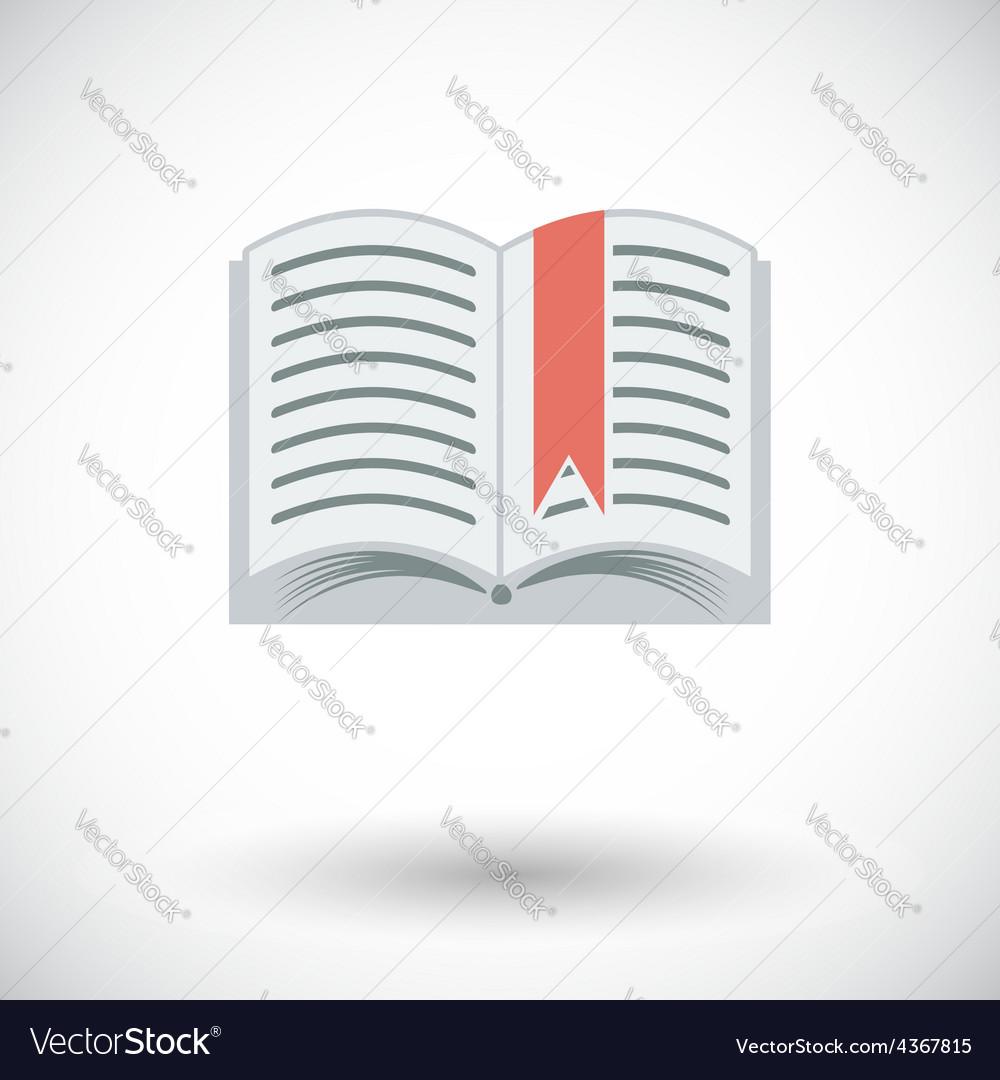 Book single flat icon vector