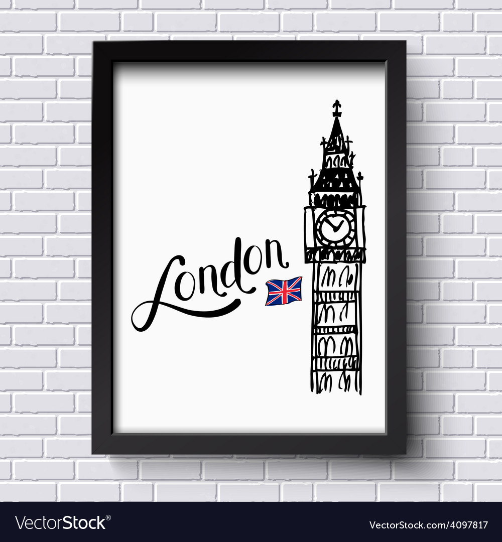 London and big ben vector