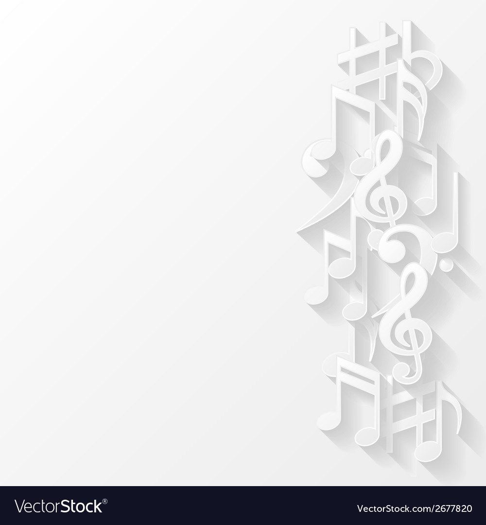 Abstract background with musical notes vector