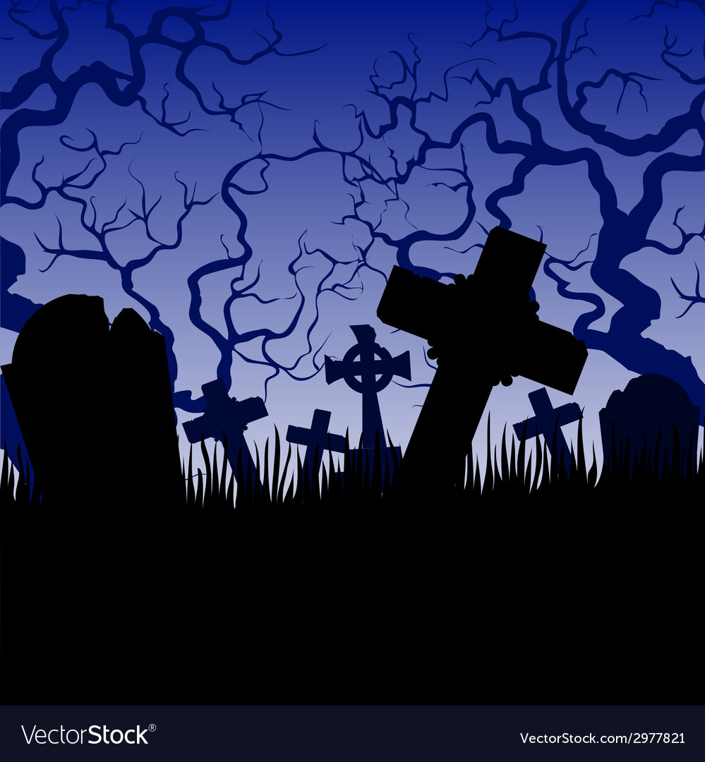 Tombs and trees vector