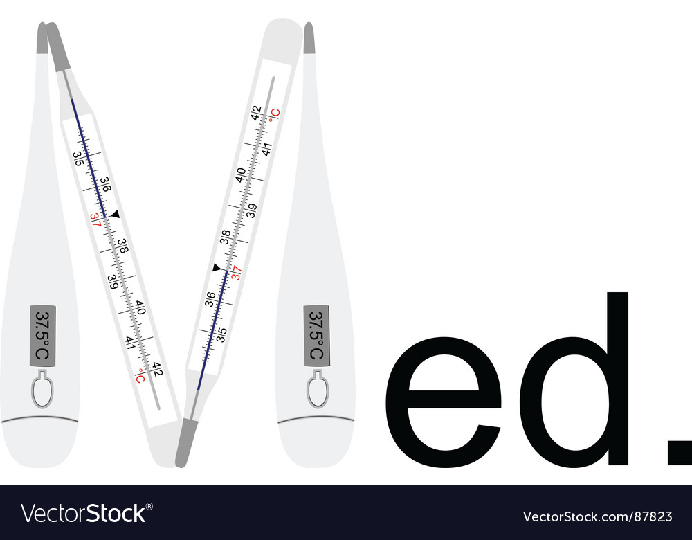 Clinical thermometers vector