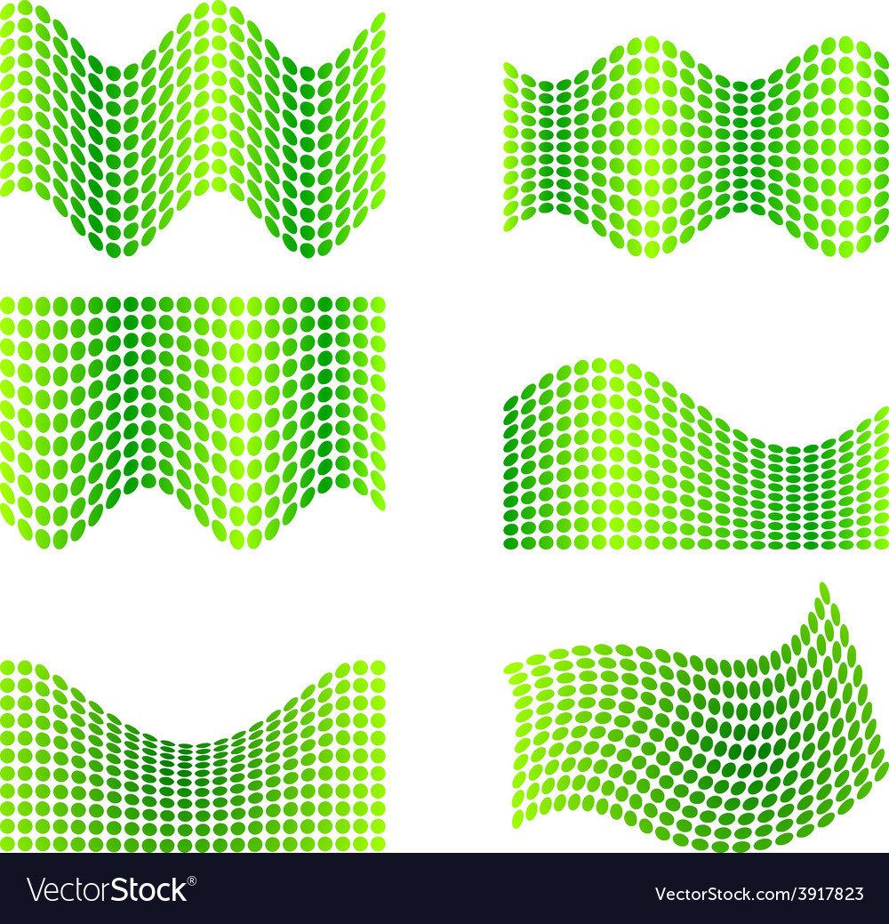 Set of halftone backgrounds vector