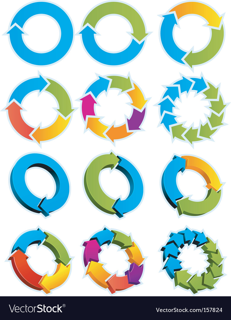 Arrow circles vector