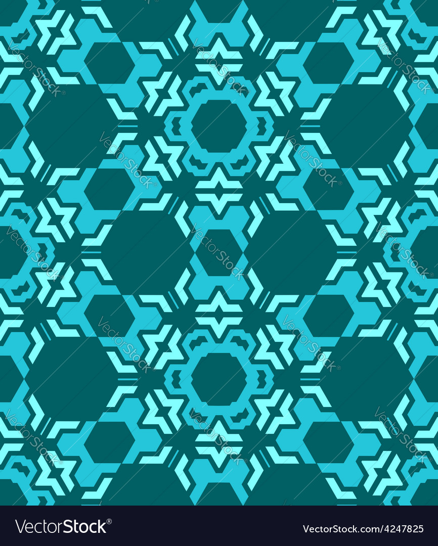 Abstract geometric blue seamless pattern vector