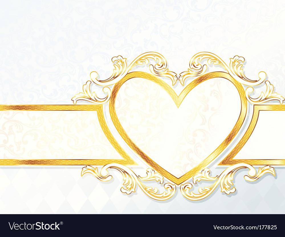 Heart emblem background vector