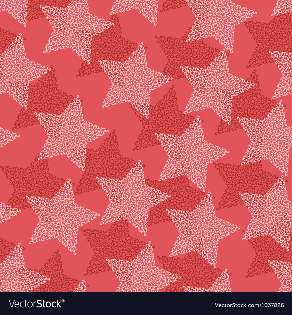 Christmas stars seamless pattern vector