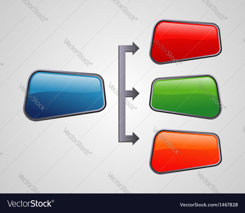 Glossy style marketing diagram presentation vector