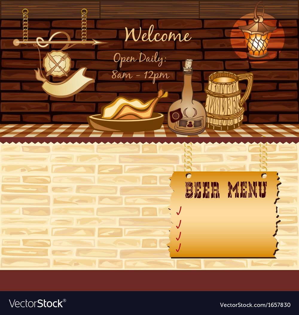 Retro cafe web template vector