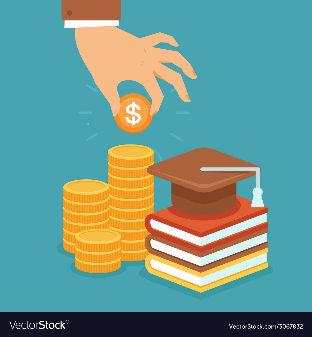 Invest in education vector