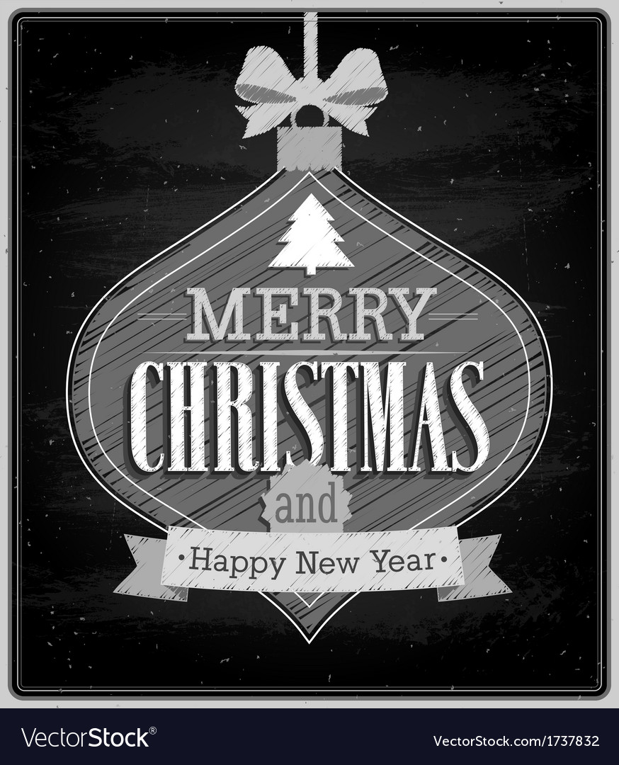 Merry christmas typographic design vector