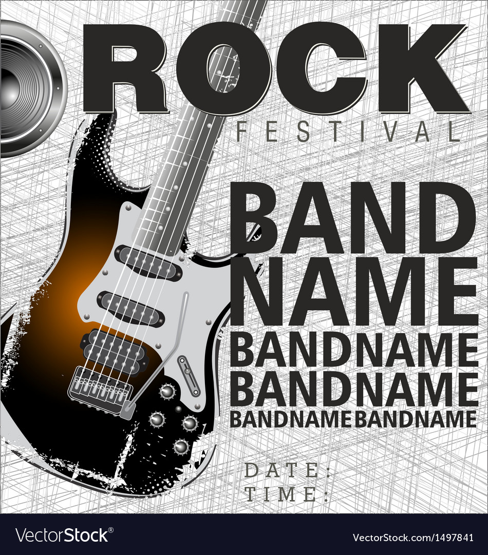 Rock festival background vector
