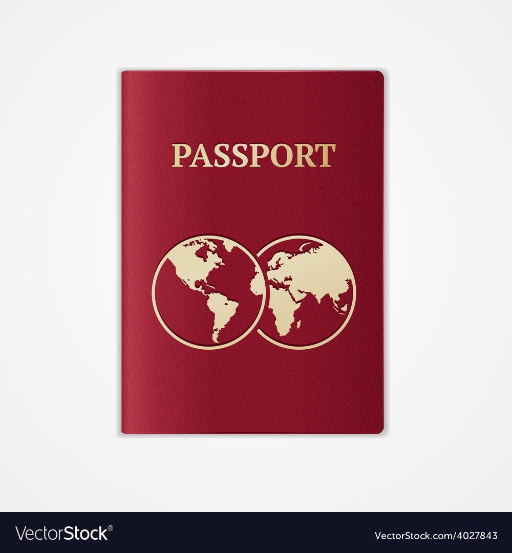 Passport flat design vector