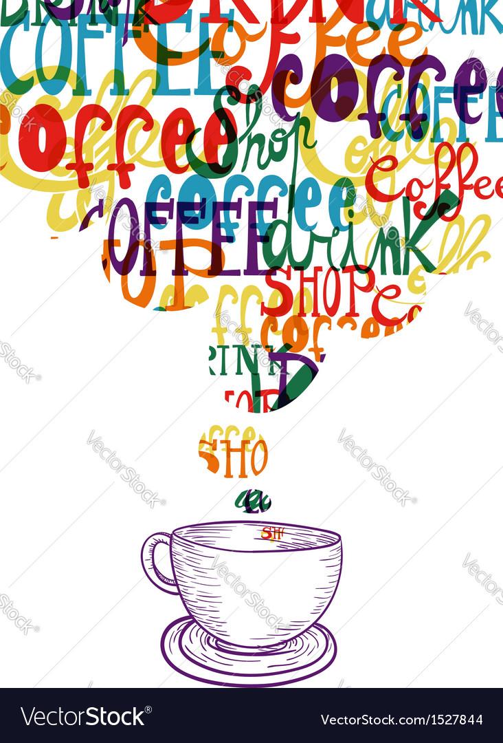 Cute vintage coffee social concept vector