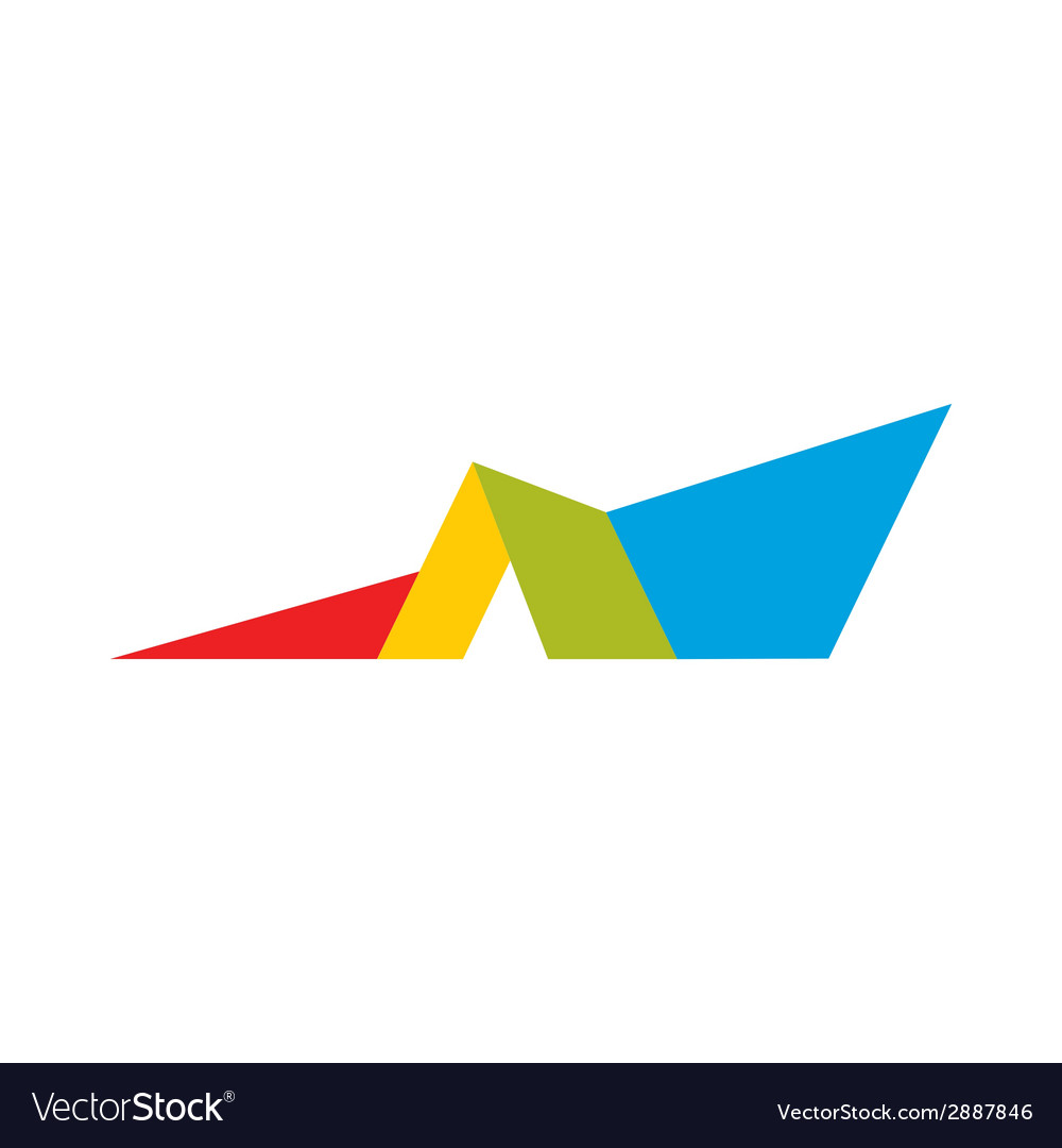 Roof abstract sign vector