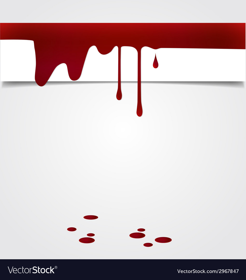 Blood dripping on paper blood background vector
