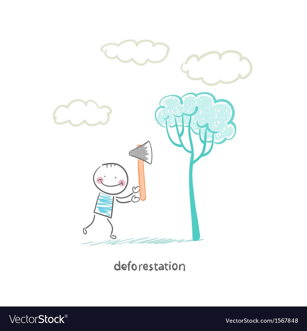 Felling trees vector