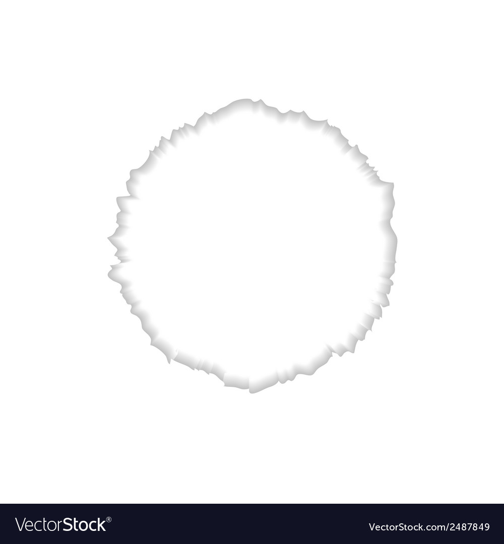 Abstract round ragged edge vector