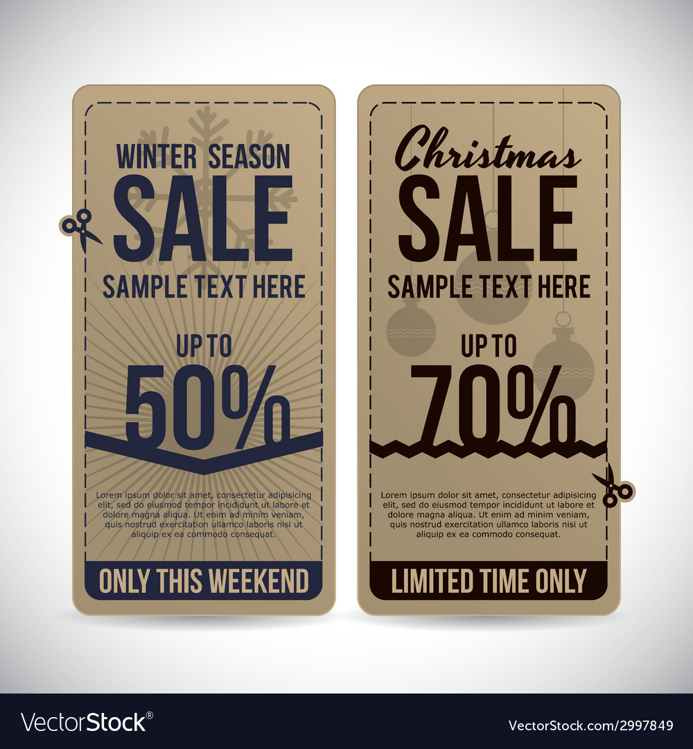 Christmas sale design vector