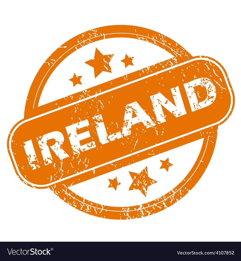Ireland grunge icon vector