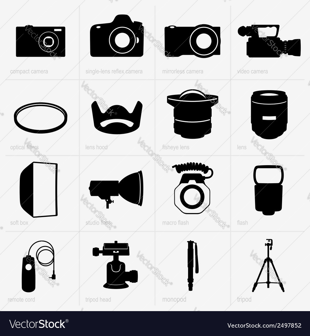 Photo equipment vector