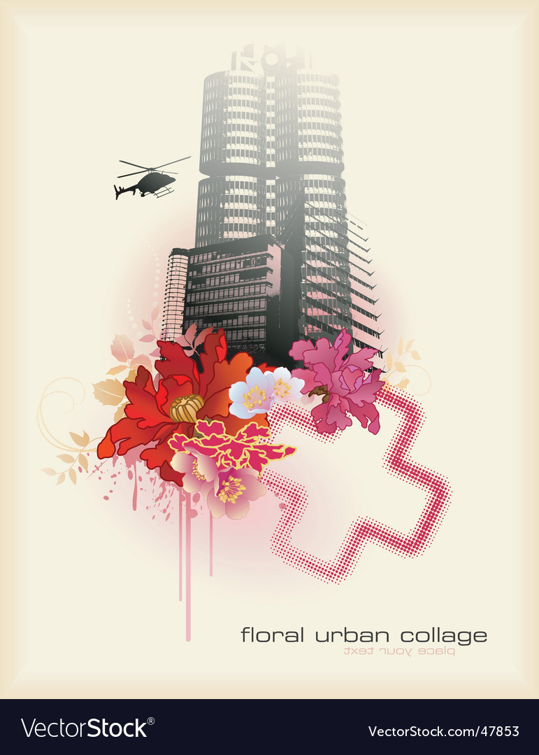 Urban florals vector