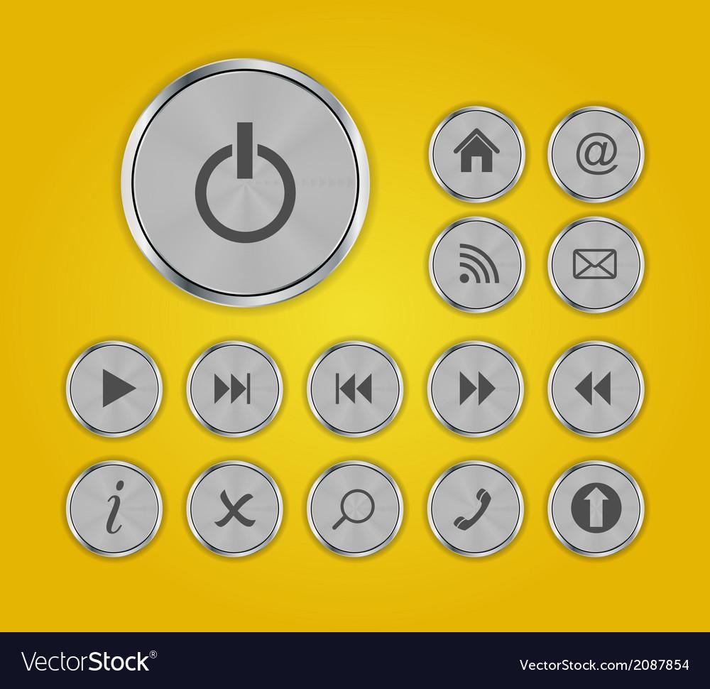 Shine glossy computer icon set vector