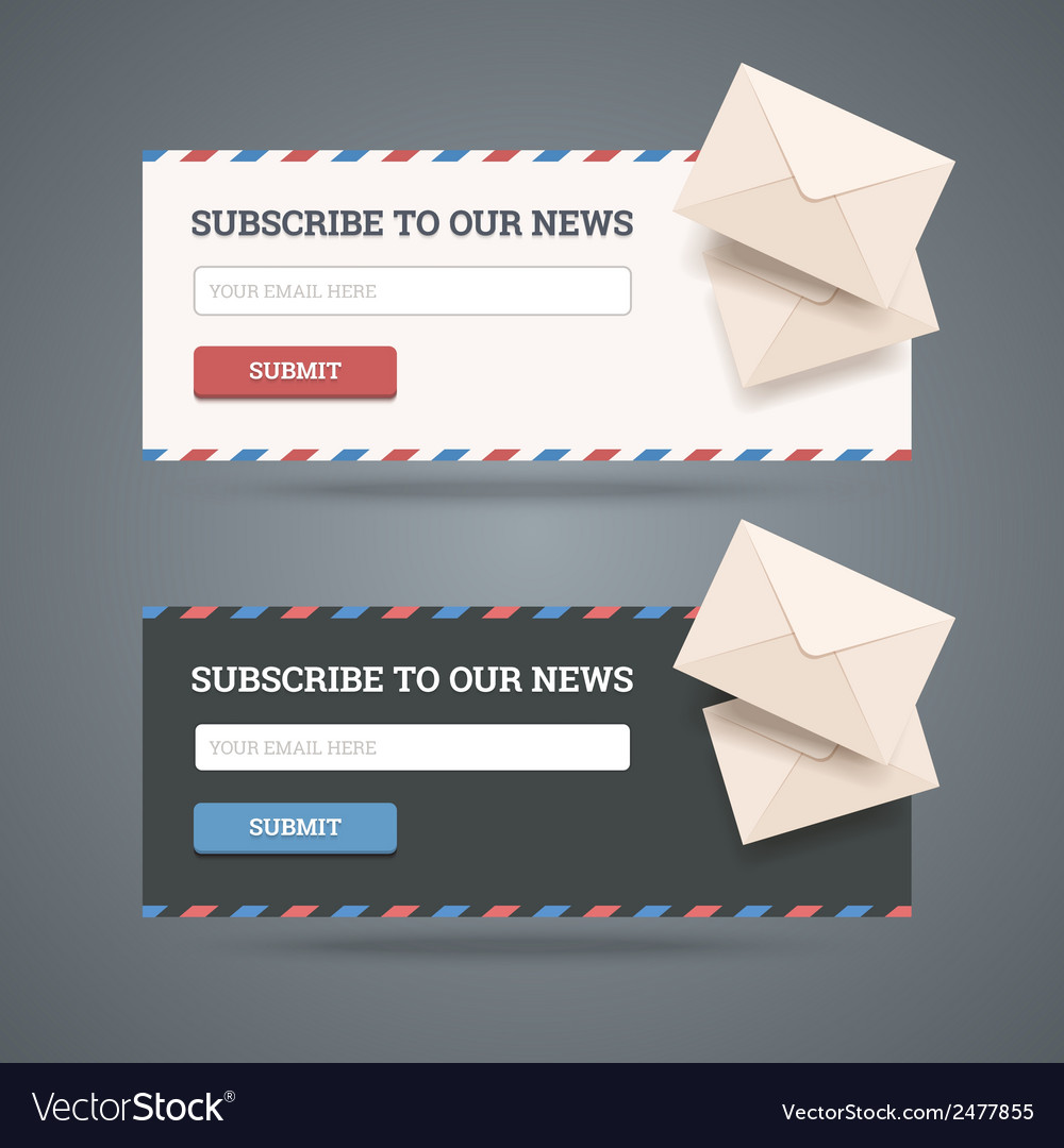 Subscribe to newsletter form vector