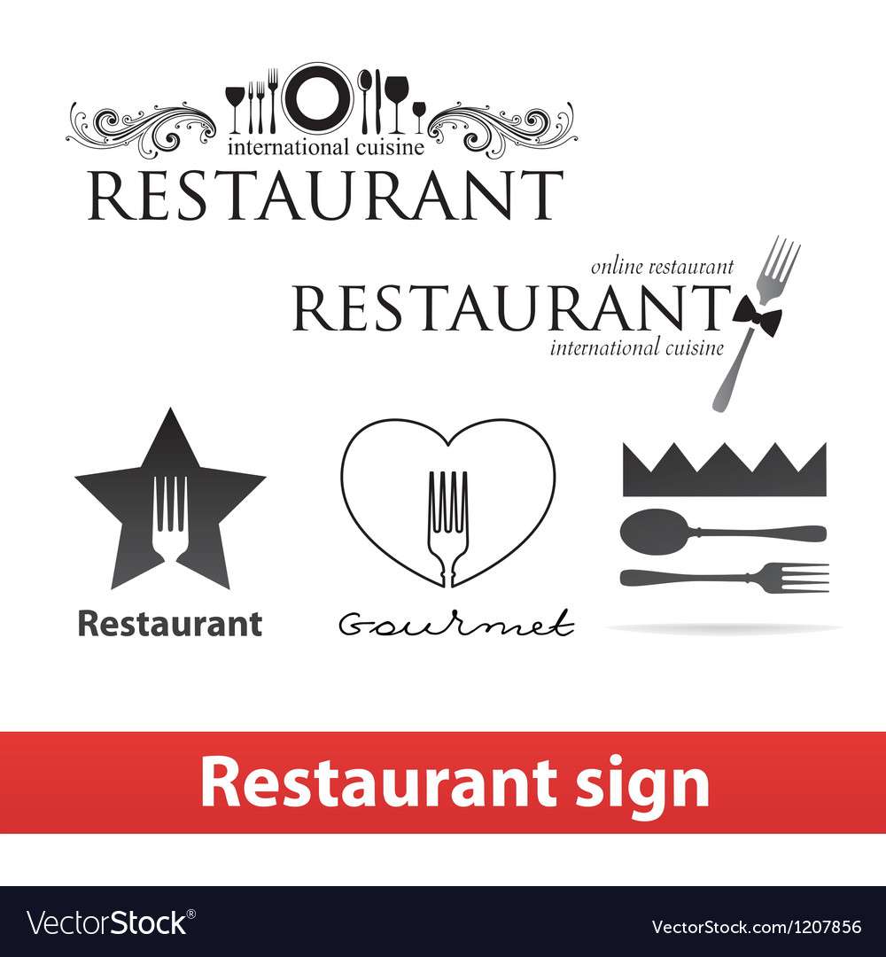 Restaurant sign vip vector