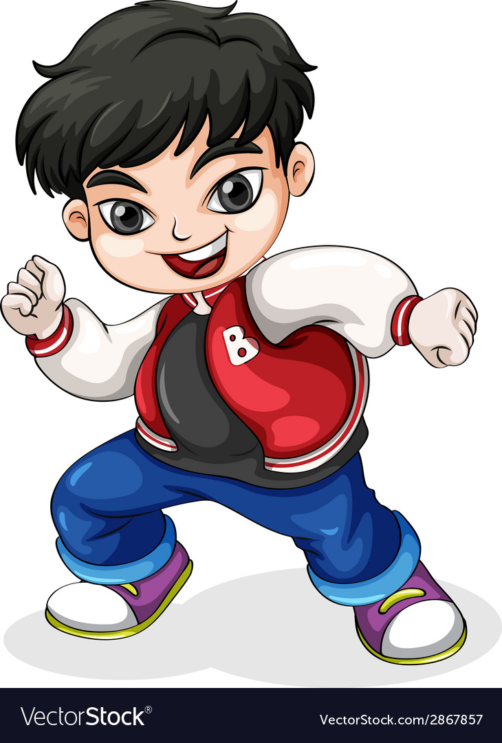 A young hiphop dancer vector