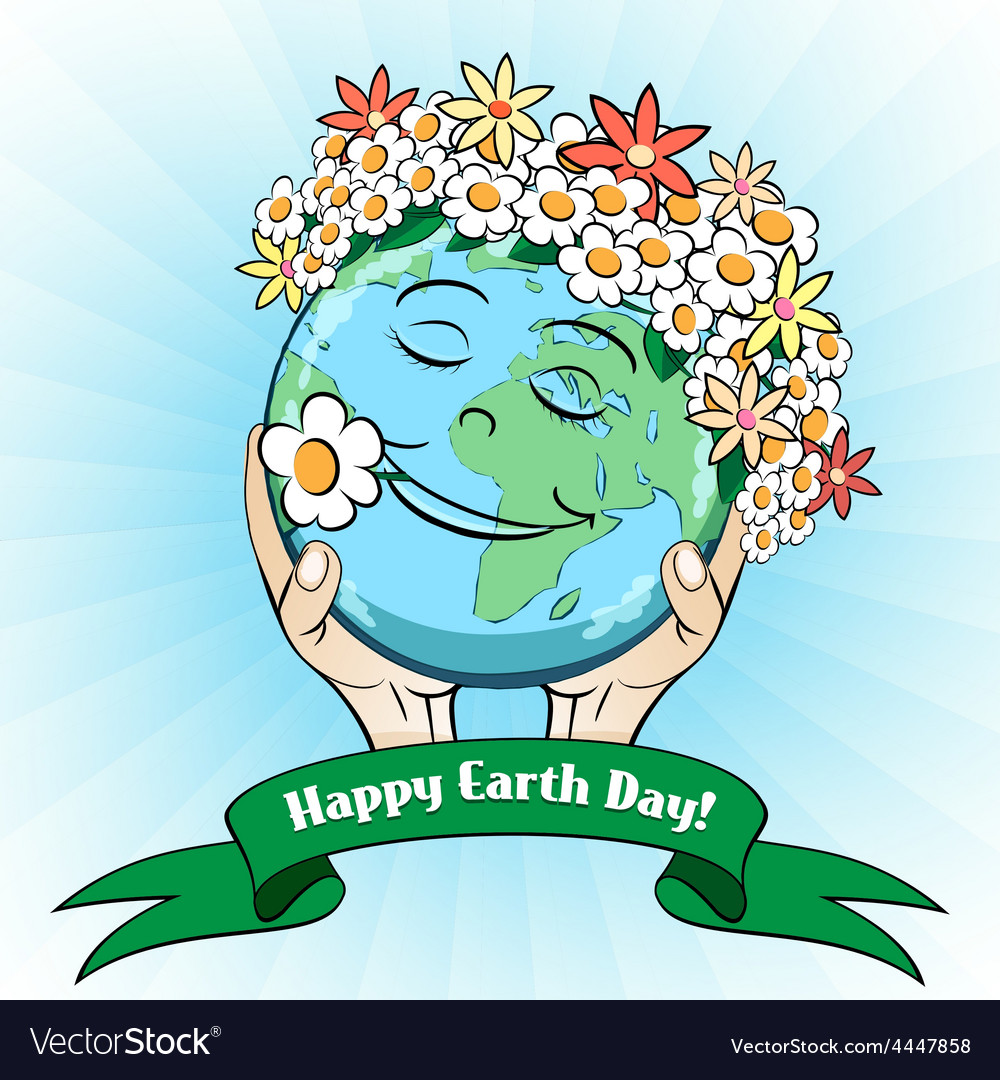 April 22 earth day card vector
