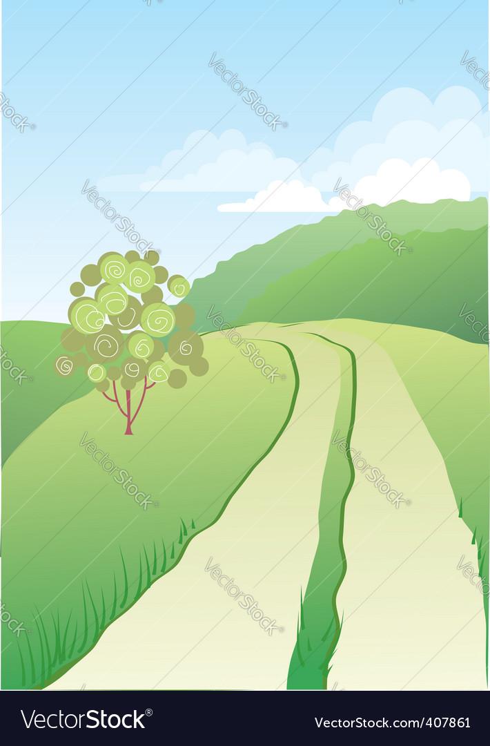 Road nature vector