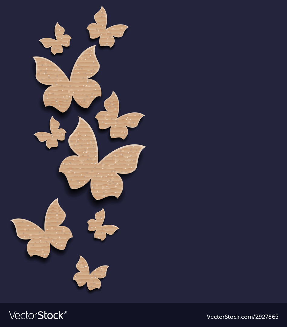 Carton paper butterflies with copy space vector
