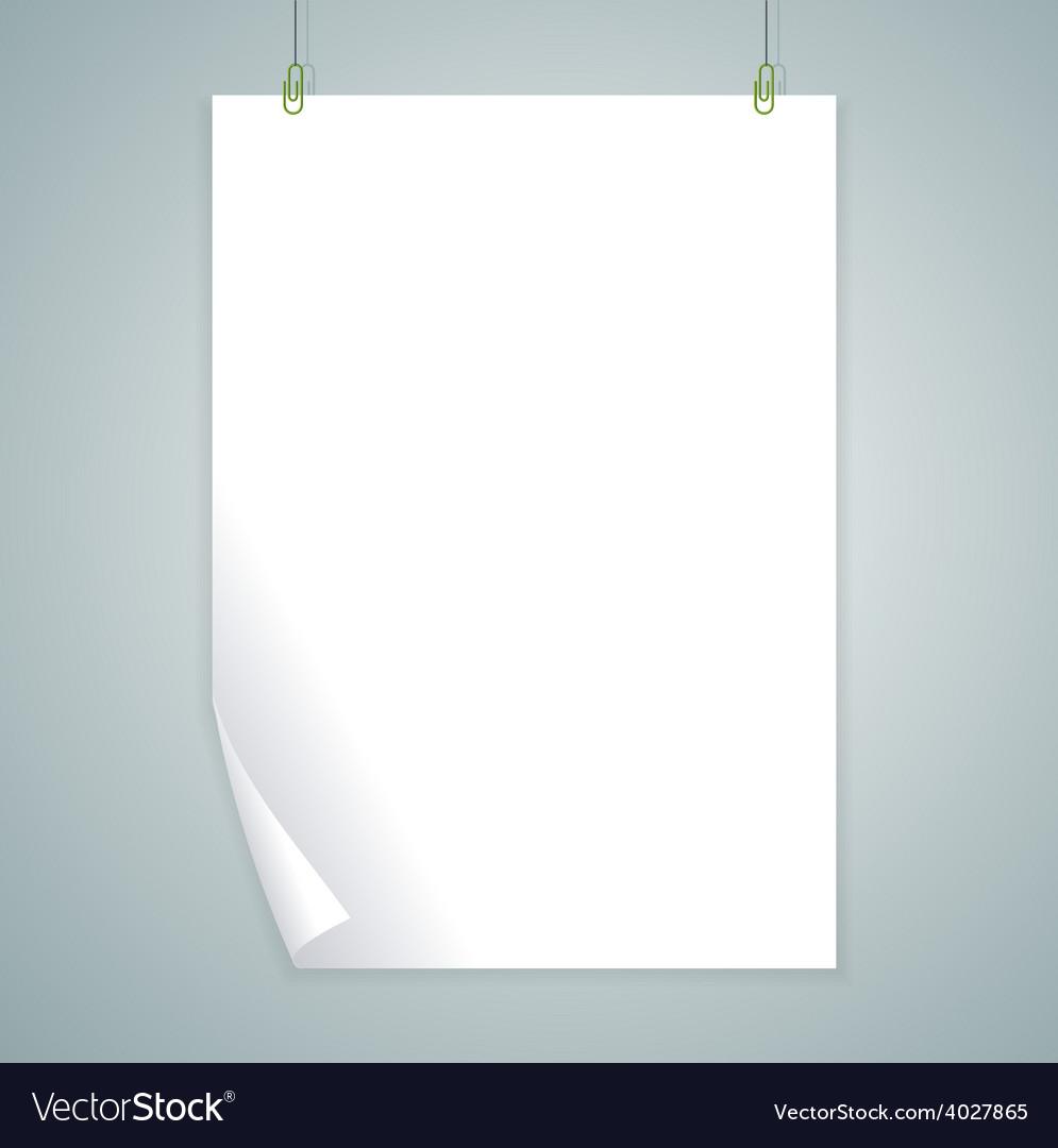 White blank flat design vector