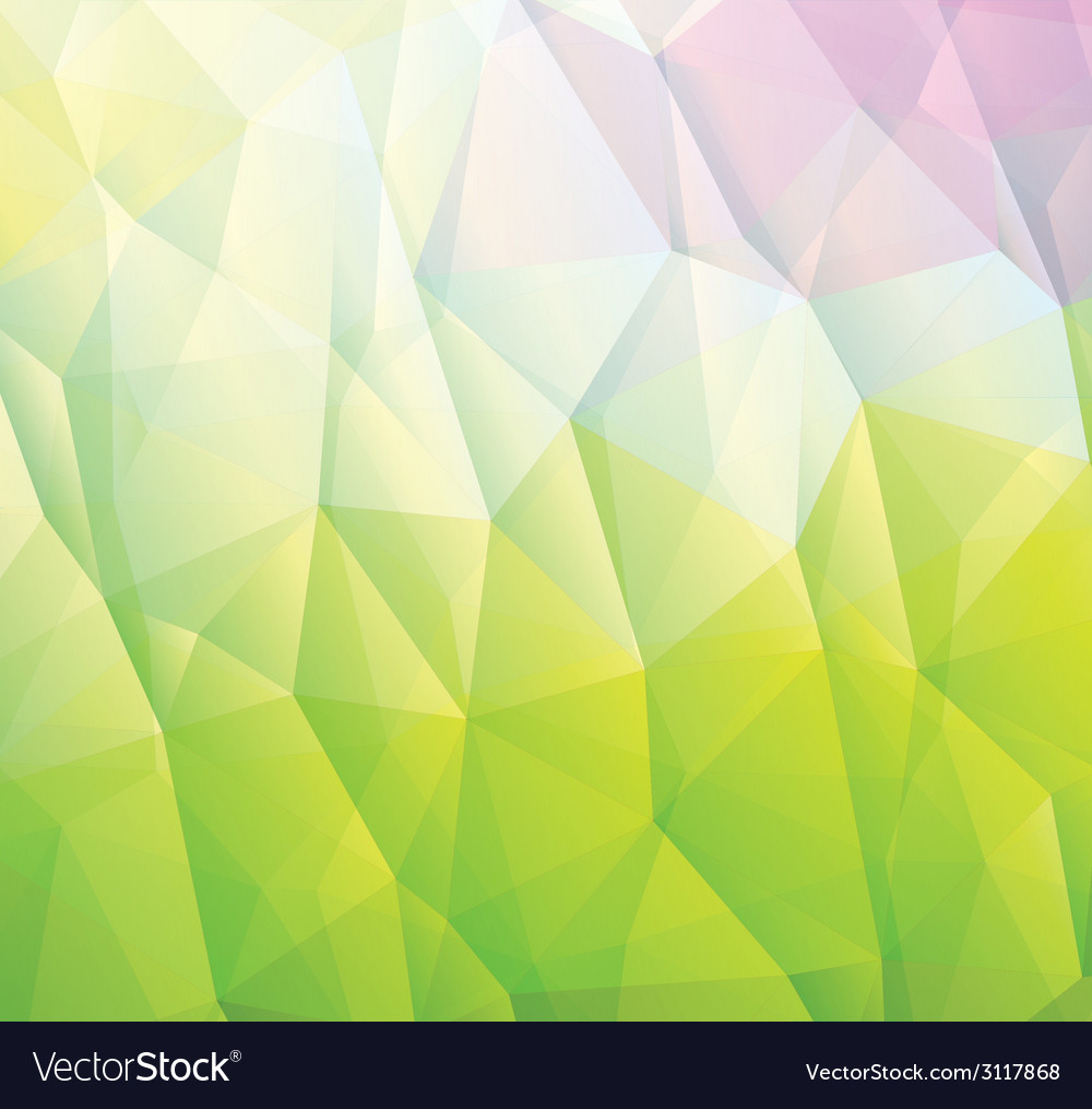 Abstract green background made from triangles vector
