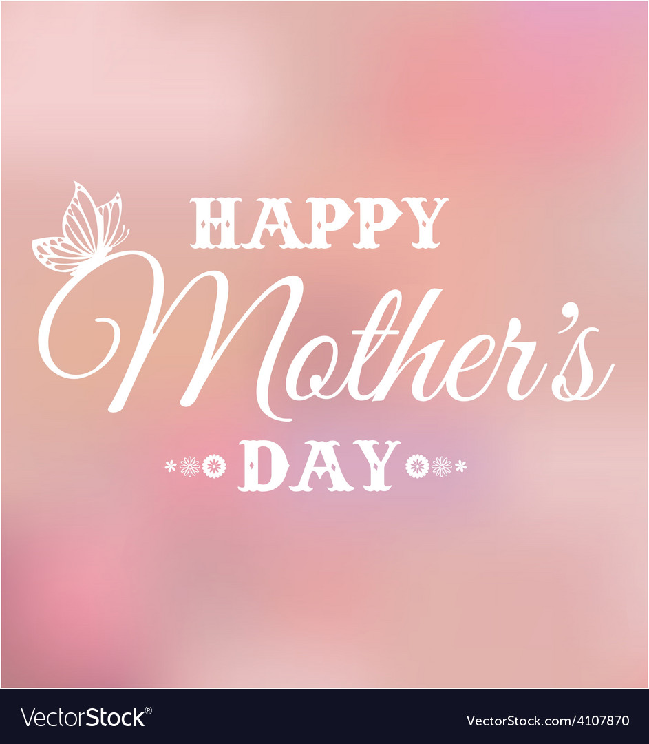 Mothers day bokeh vector