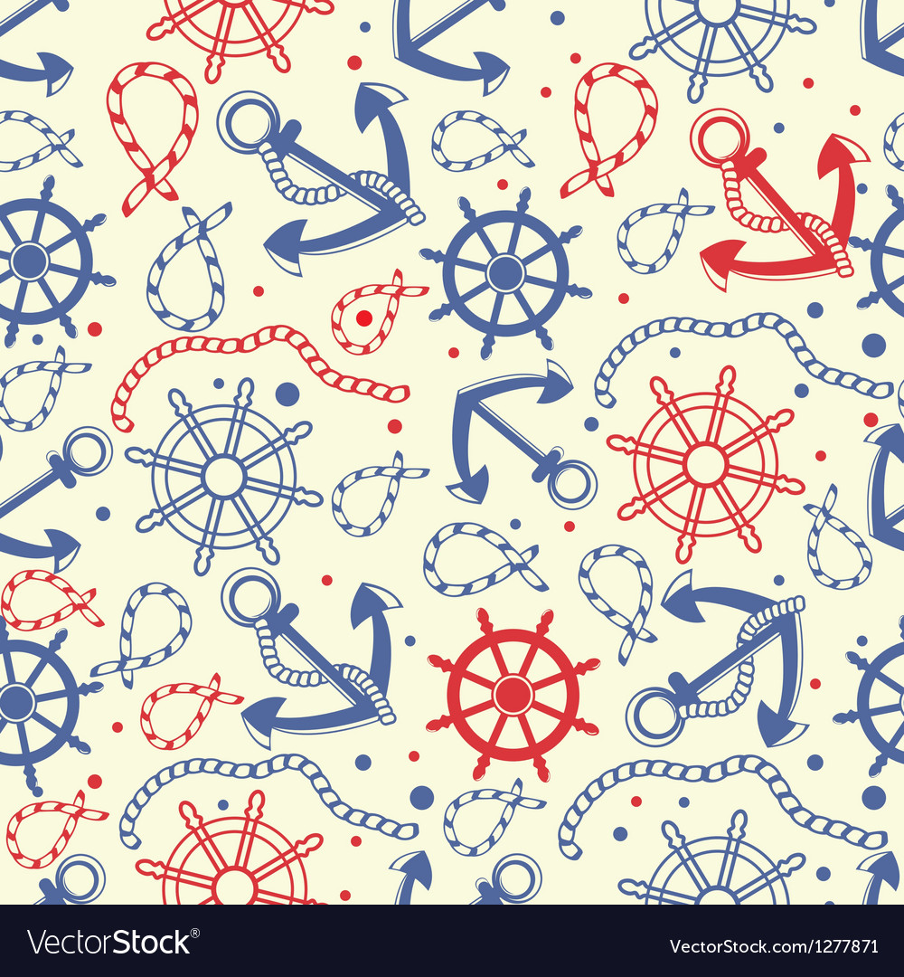 Red and navy seamless background vector
