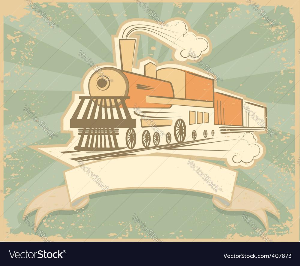 Locomotive poster vector