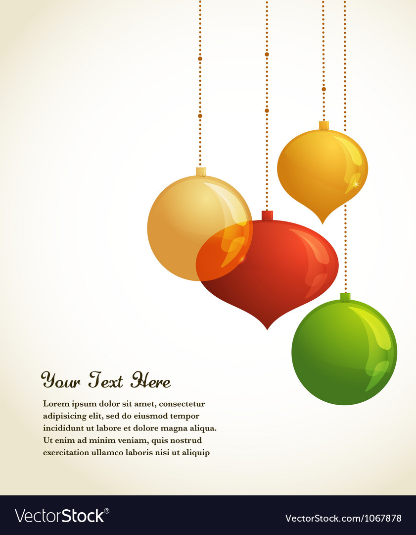 Elegant christmas background with lights and xmas vector