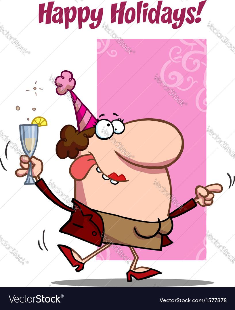 New years celebration cartoon vector