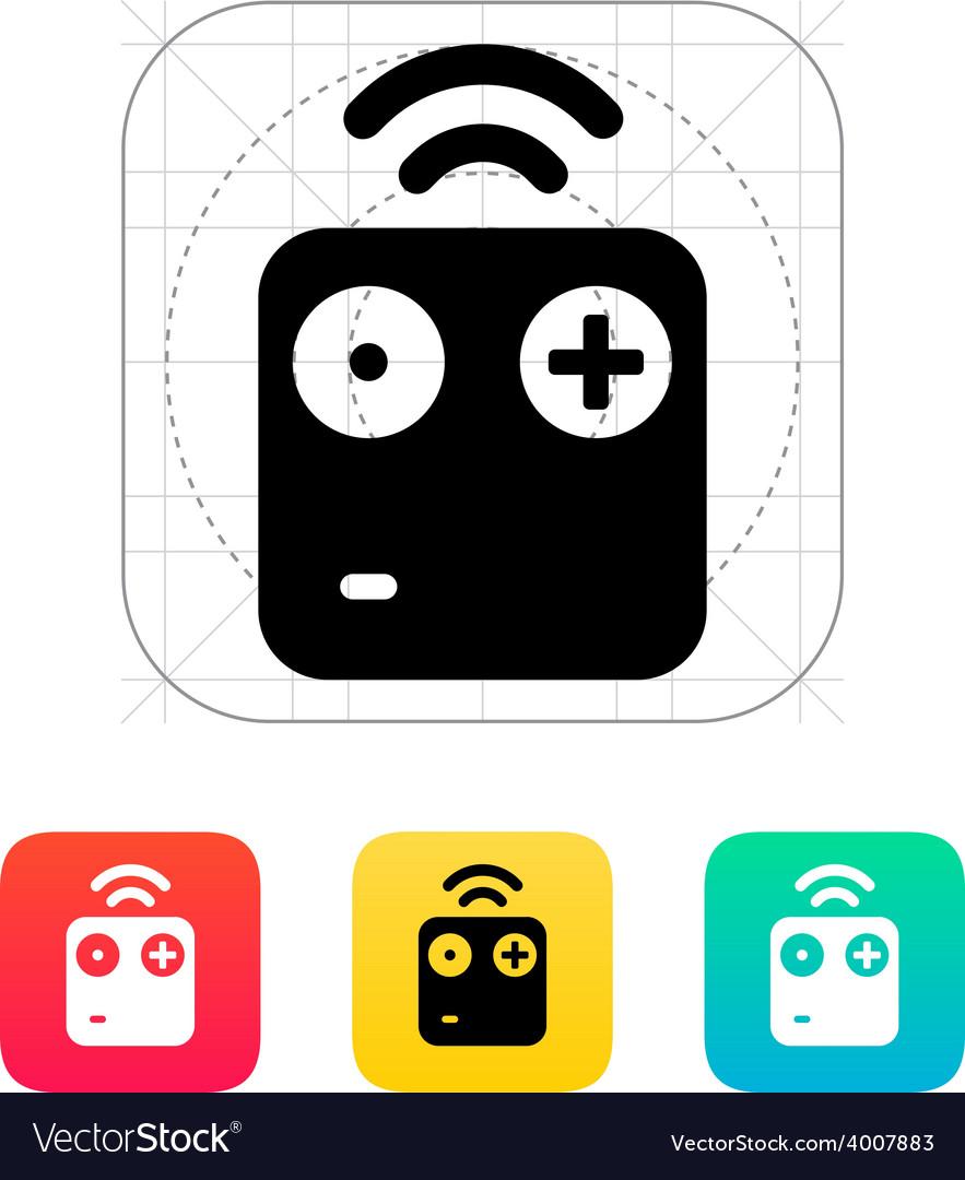 Wireless remote icon vector