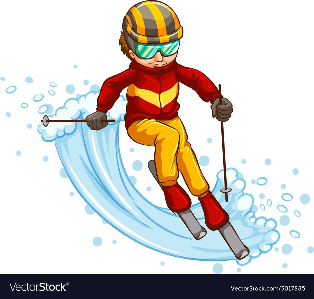 Skiing vector