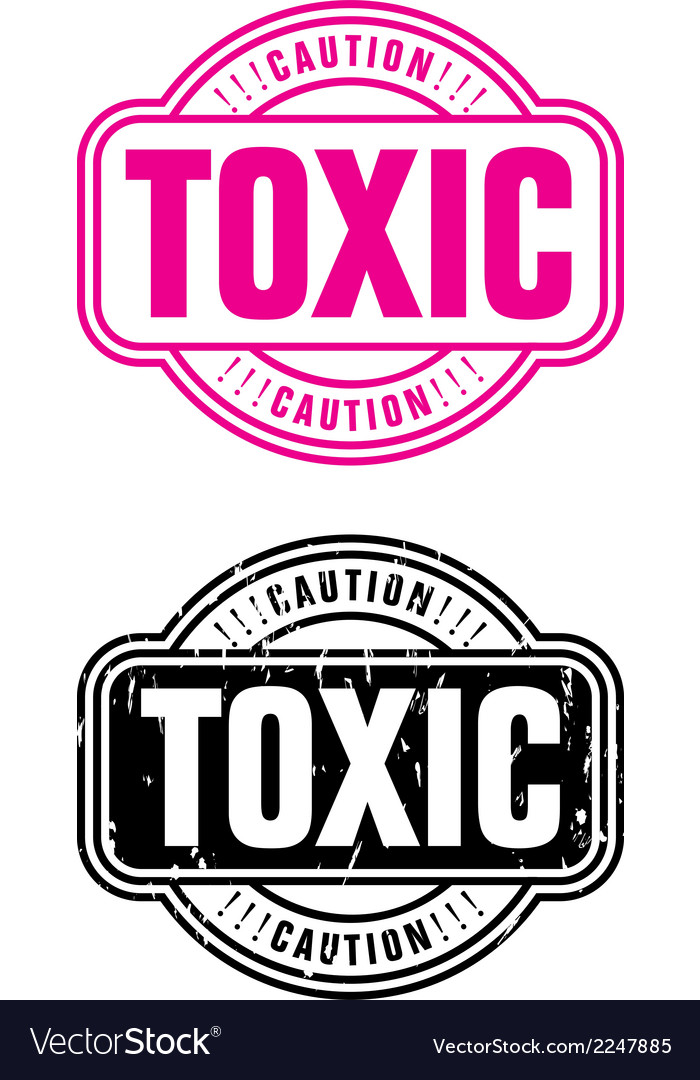 Stamp toxic vector