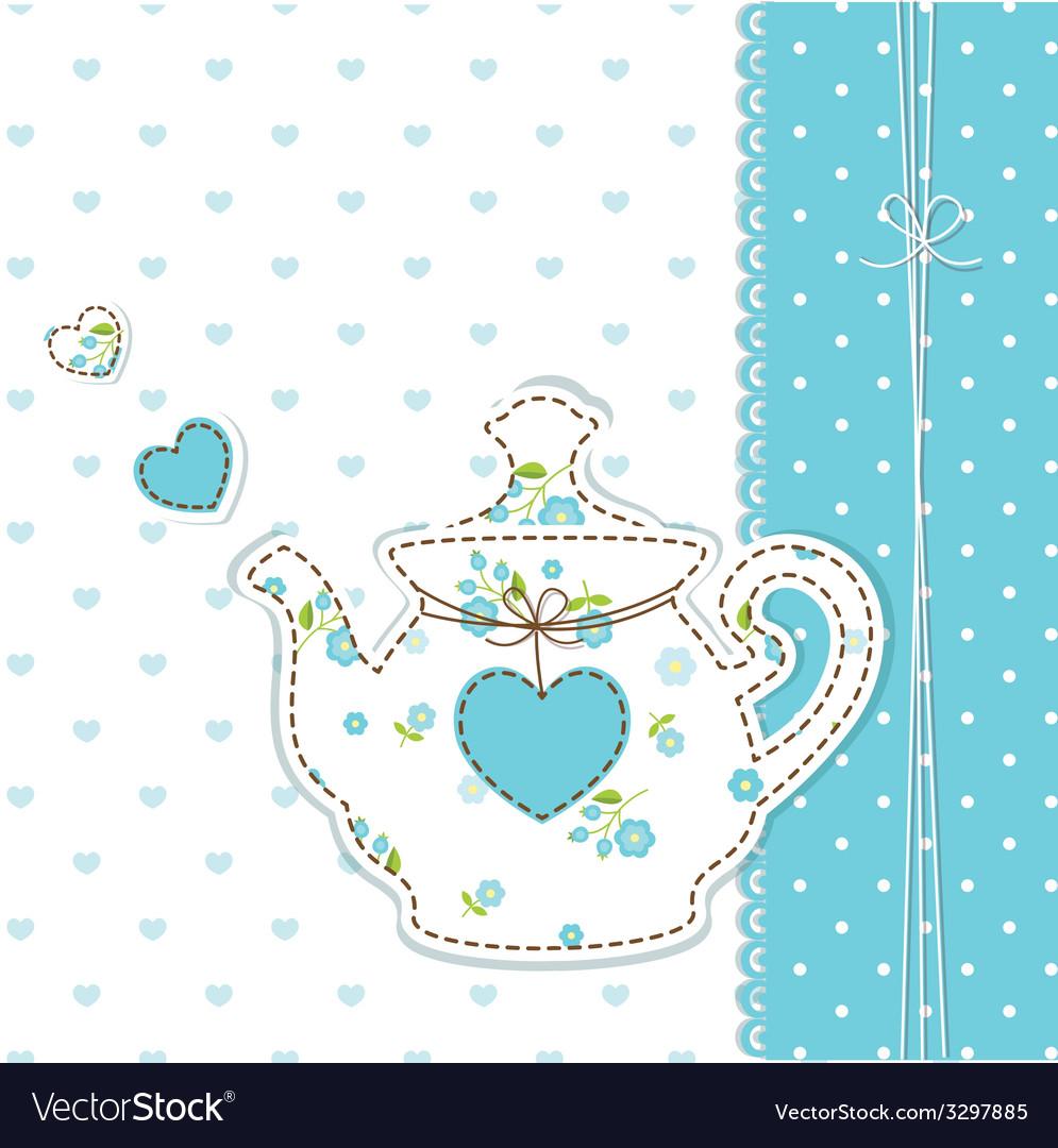 Teapot background 2 vector