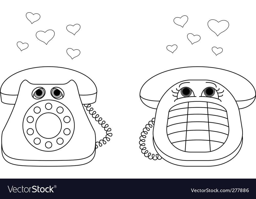 Desktop phones vector