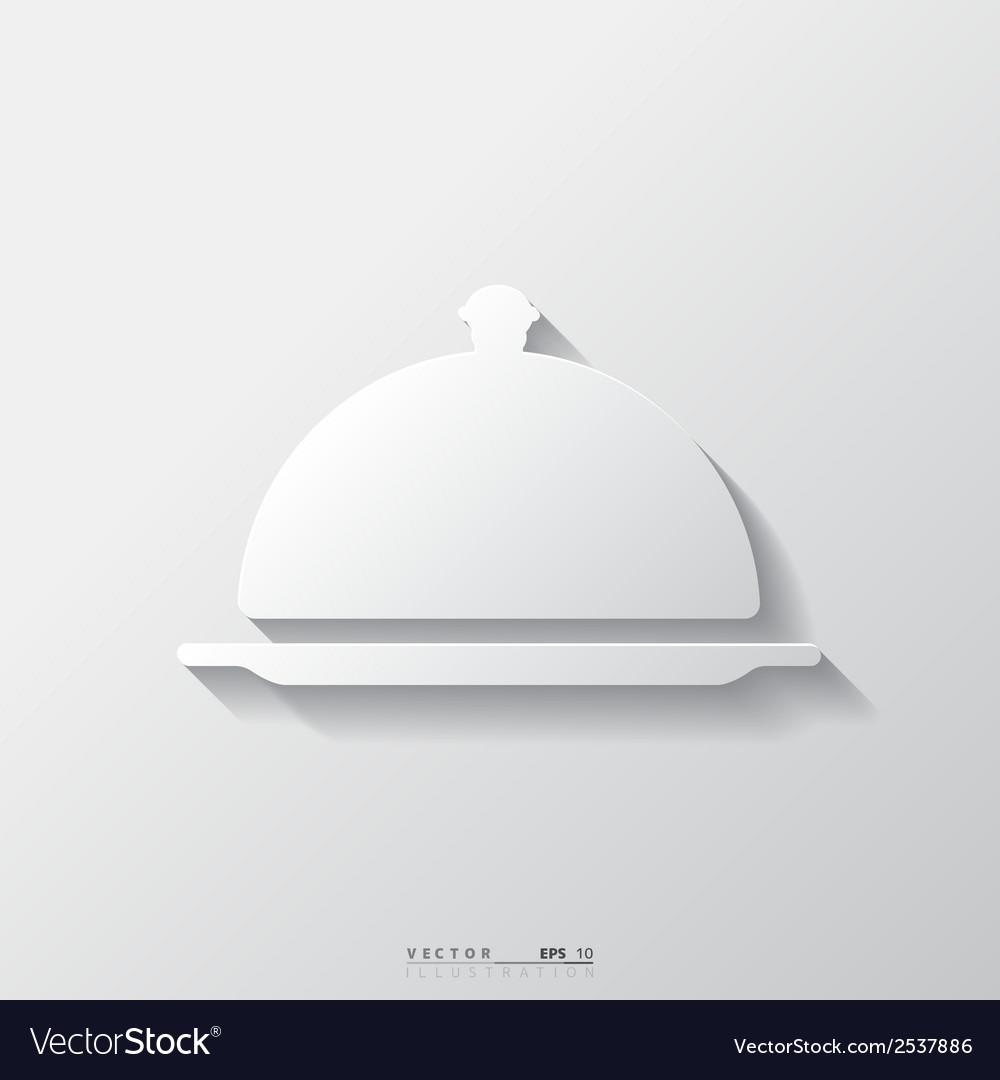 Restaurant cloche icon vector