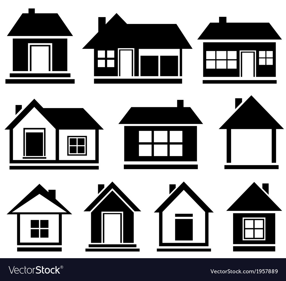 Set isolated house vector
