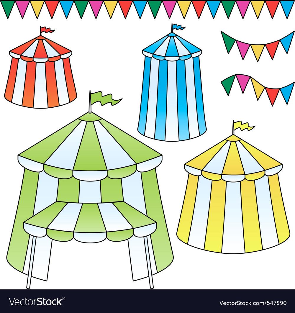 Circus tents vector