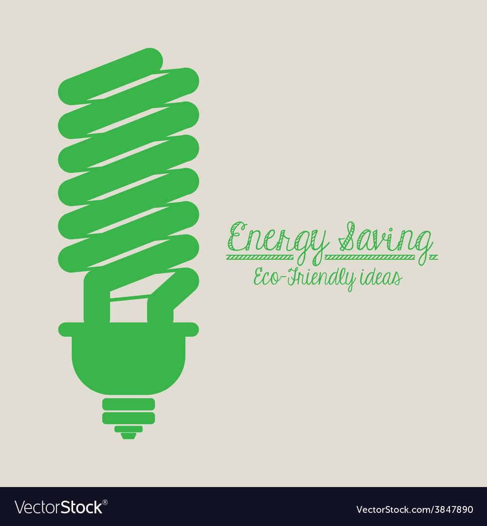 Energy saving design vector