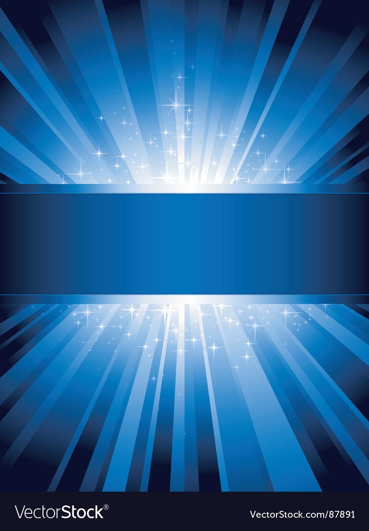 Vertical blue light burst vector