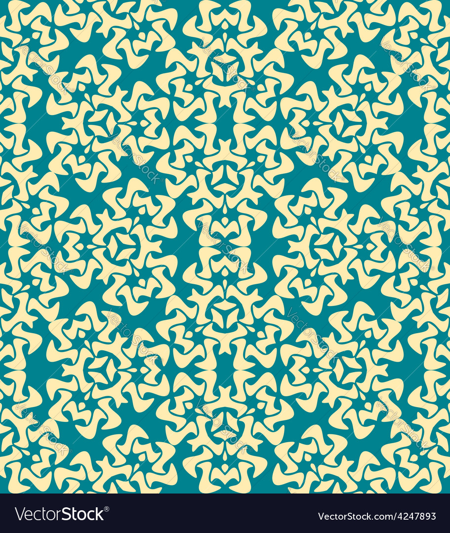 Abstract decorative floral yellow blue seamless vector